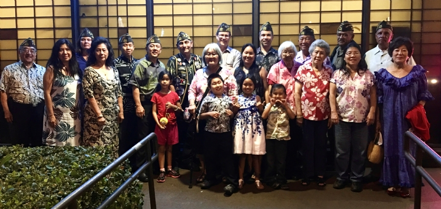 Post comrades and auxiliary members had a nice Holiday celebration at Kabuki Restaurant, December 2015